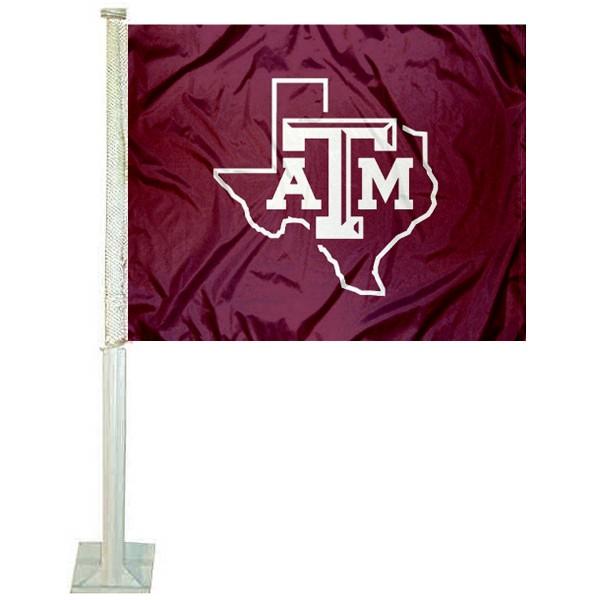 Texas A&M Lone Star Logo Car Flag
