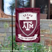 Texas A&M Shield Garden Flag