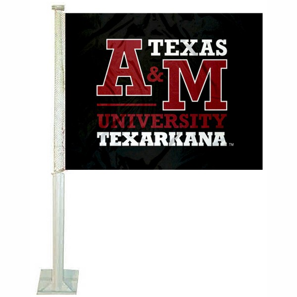 Texas A&M Texarkana Eagles Logo Car Flag
