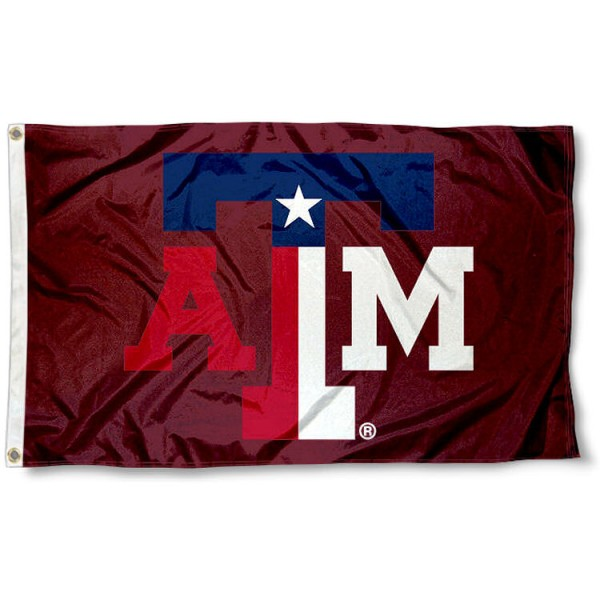 Texas A&M Texas State Colors Flag