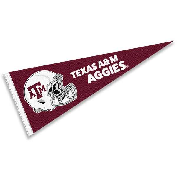 Texas A&M University Football Helmet Pennant
