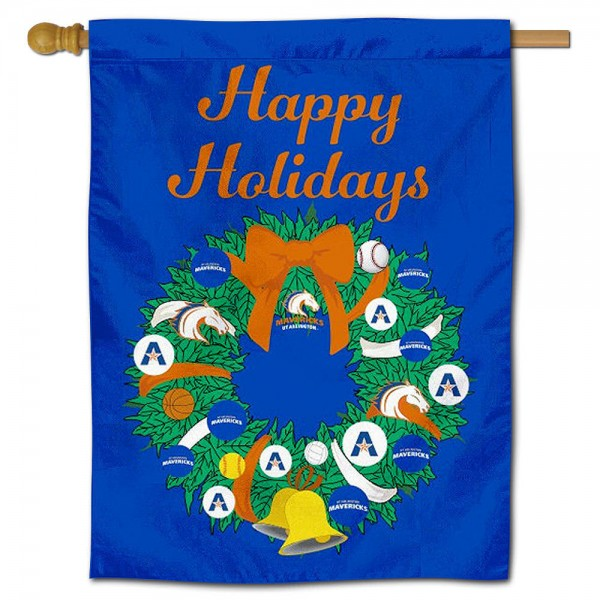 Texas Arlington Mavericks Christmas Holiday House Flag