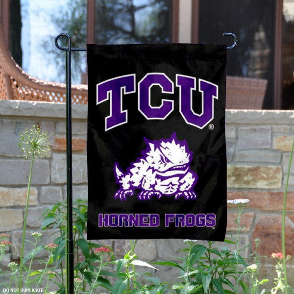 Texas Christian Blackout Garden Flag