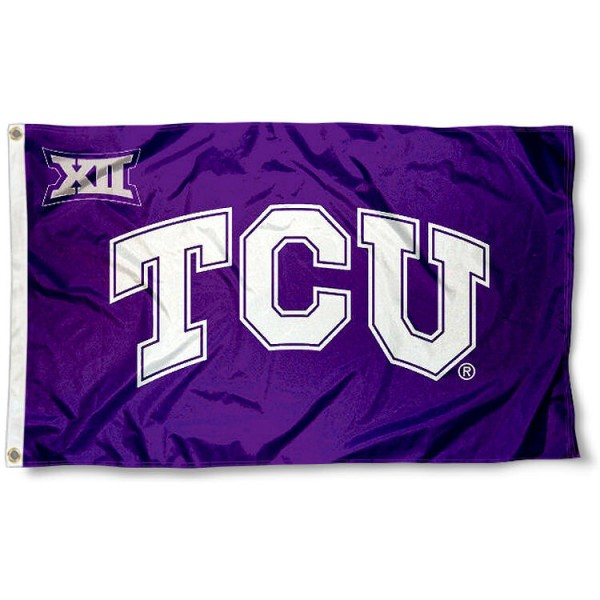 Texas Christian Horned Frogs Big 12 Flag