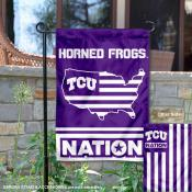 Texas Christian Horned Frogs Nation Garden Flag