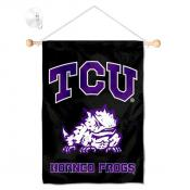 Texas Christian Horned Frogs Small Wall and Window Banner