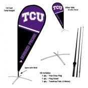 Texas Christian Horned Frogs Teardrop Flag and Stand Kit
