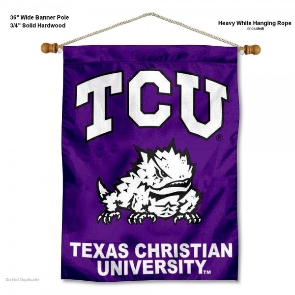 Texas Christian Horned Frogs Wall Hanging