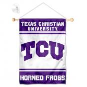 Texas Christian Horned Frogs Window Hanging Banner with Suction Cup