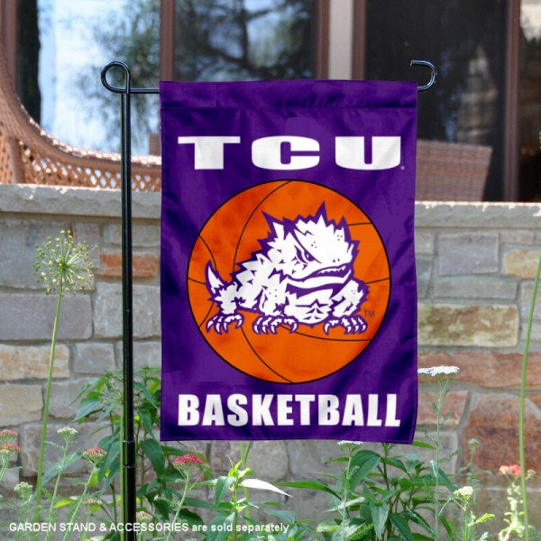 Texas Christian University Basketball Garden Flag