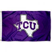 Texas Christian University TX Logo Flag
