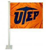 Texas El Paso Miners Car Flag