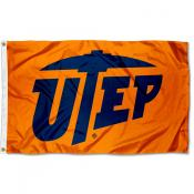 Texas El Paso Miners Orange UTEP Logo Flag