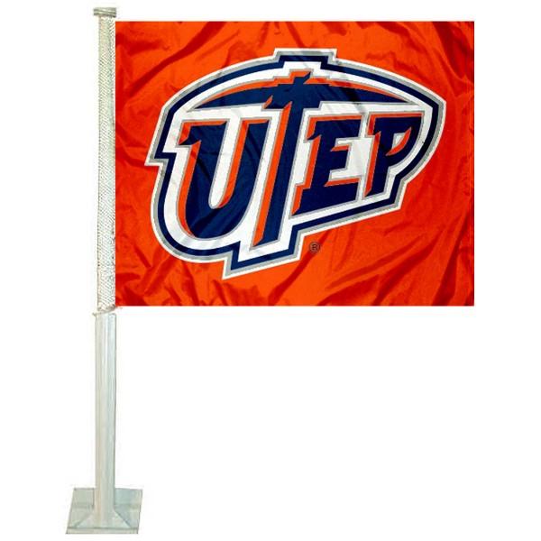 Texas El Paso Miners UTEP Car Flag
