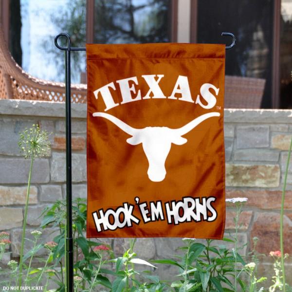 Texas Hookem Horns Garden Banner
