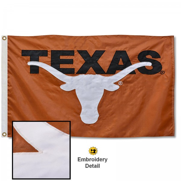 Texas Longhorns Appliqued Nylon Flag