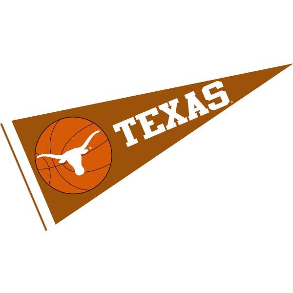 Texas Longhorns Basketball Pennant