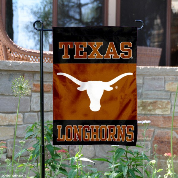 Texas Longhorns Black Garden Flag