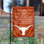 Texas Longhorns Eyes of Texas Lyrics Garden Banner