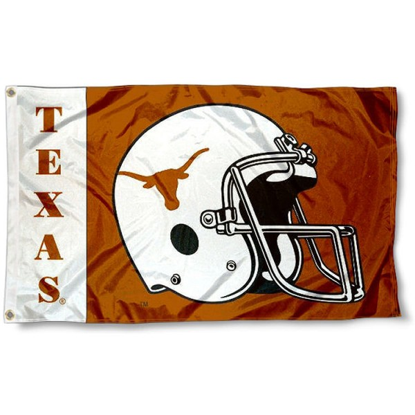 Texas Longhorns Football Helmet Flag