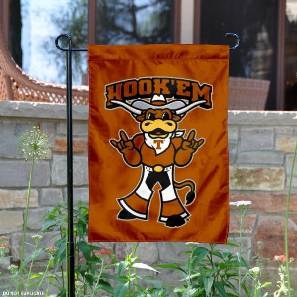 Texas Longhorns Hook Em Horns Garden Flag