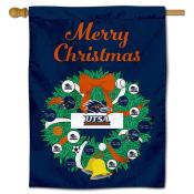 Texas San Antonio Roadrunners Christmas Holiday House Flag