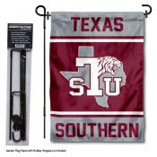 Texas Southern University Garden Flag and Yard Pole Holder Set
