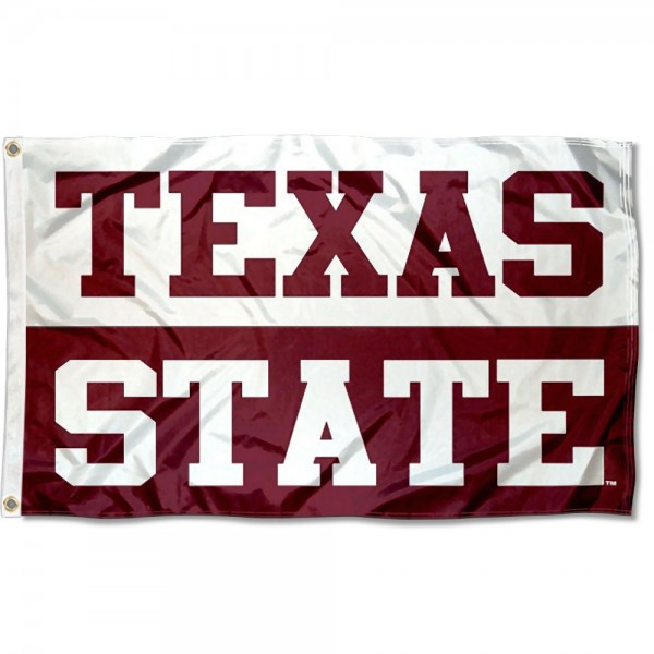 Texas State Bobcats Block Letters Flag