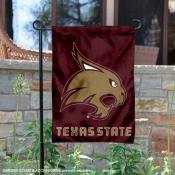 Texas State Bobcats Maroon Garden Flag
