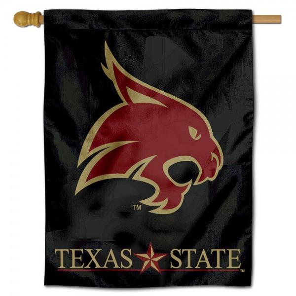 Texas State Bobcats Polyester House Flag