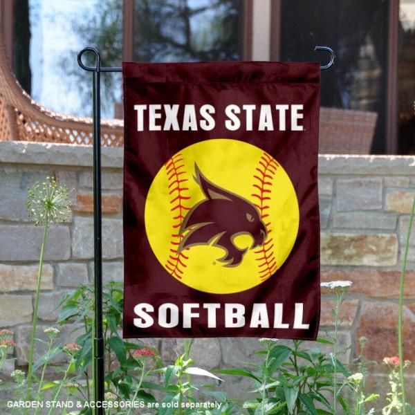 Texas State Bobcats Softball Garden Flag