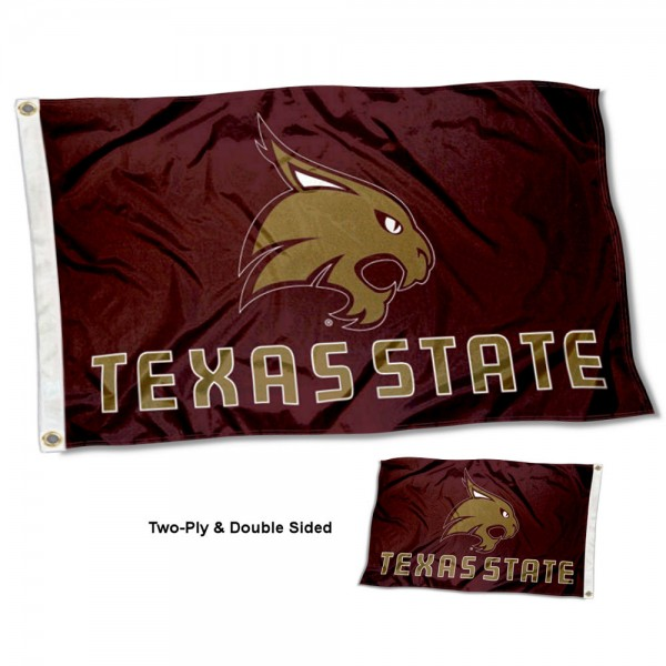 Texas State Bobcats Two Sided 3x5 Foot Flag