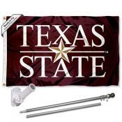 Texas State University 3x5 Flag and Bracket Flagpole Set