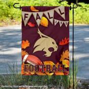 Texas State University Bobcats Fall Leaves Football Double Sided Garden Banner
