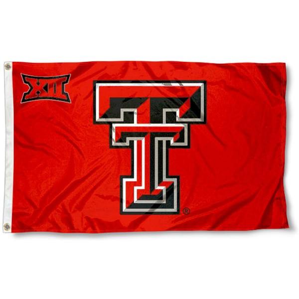 Texas Tech Big 12 Flag