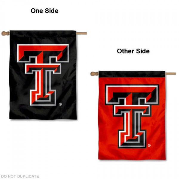 Texas Tech Double Logo House Flag