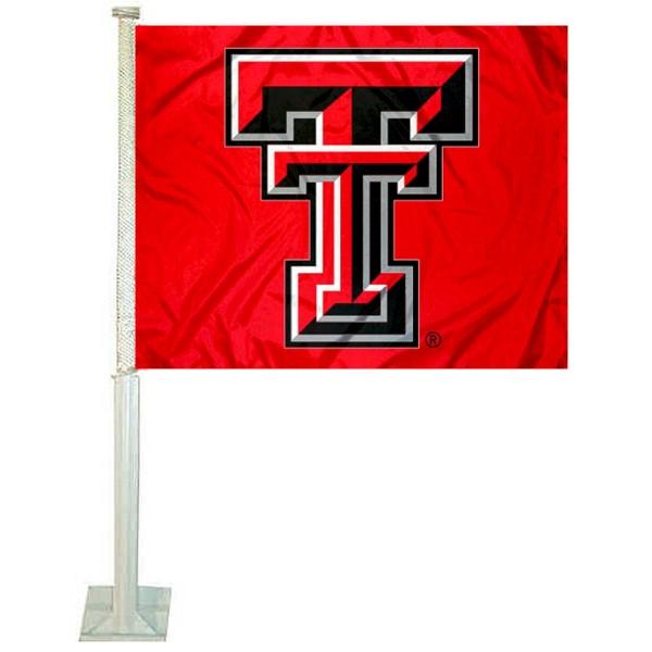 Texas Tech Red Car Flag