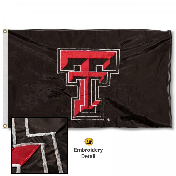 Texas Tech Red Raiders Appliqued Nylon Flag