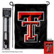 Texas Tech Red Raiders Black Garden Flag and Holder