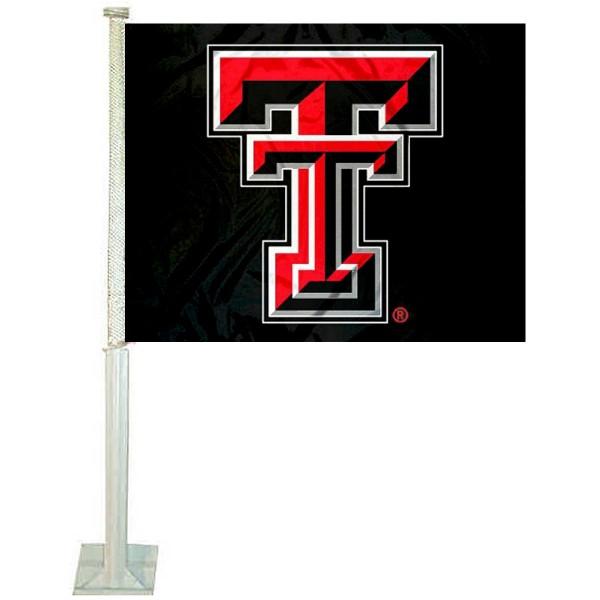 Texas Tech Red Raiders Car Flag