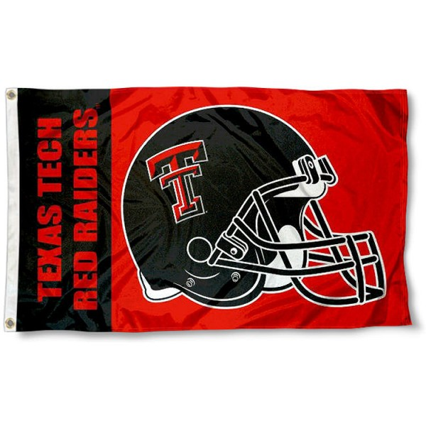 Texas Tech Red Raiders Football Helmet Flag