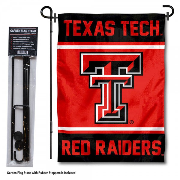 Texas Tech Red Raiders Garden Flag and Holder