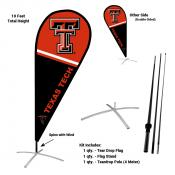 Texas Tech Red Raiders Teardrop Flag and Stand Kit