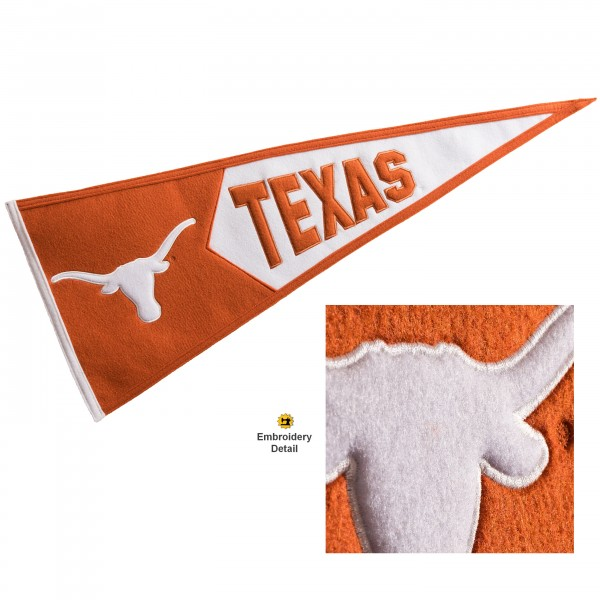 Texas UT Longhorns Embroidered Wool Pennant