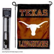 Texas UT Longhorns Garden Flag and Holder