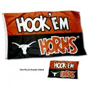 Texas UT Longhorns Two Sided Hook Em Horns 3x5 Foot Flag