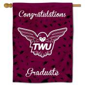Texas Womans Pioneers Graduation Banner