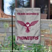 Texas Womans University Pioneers Double Sided Garden Flag