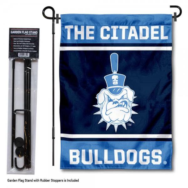The Citadel Garden Flag and Yard Pole Holder Set