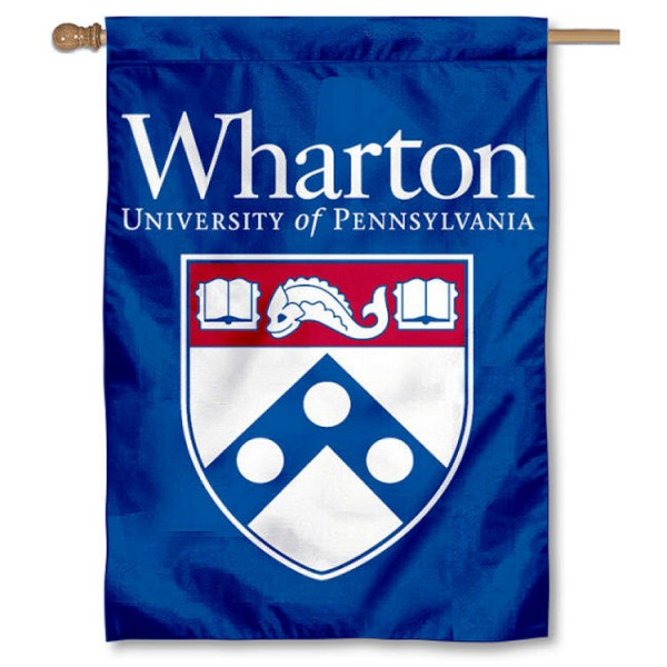The Wharton School Logo House Flag